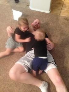 Wrestling with Daddy!